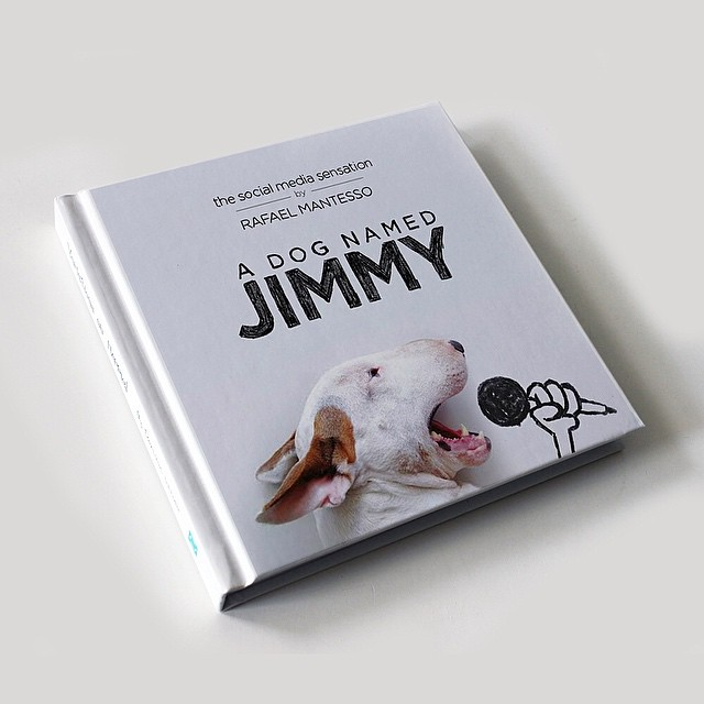 A Dog Named Jimmy Book // Funny And Cool Dog Drawings & Photo Illustrations, Jimmy Choo Bull Terrier by Rafael Mantesso