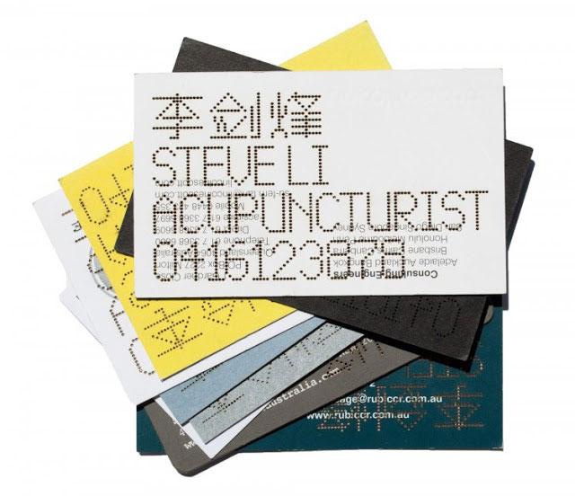 The Acupuncturist Business Card // 255 Creative & Unique Business Cards Design Inspiration & Ideas