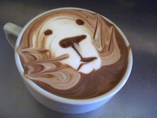 Cute Lion Coffee Art Design // Creative 3D Coffee Latte Art Pictures, Images & Designs