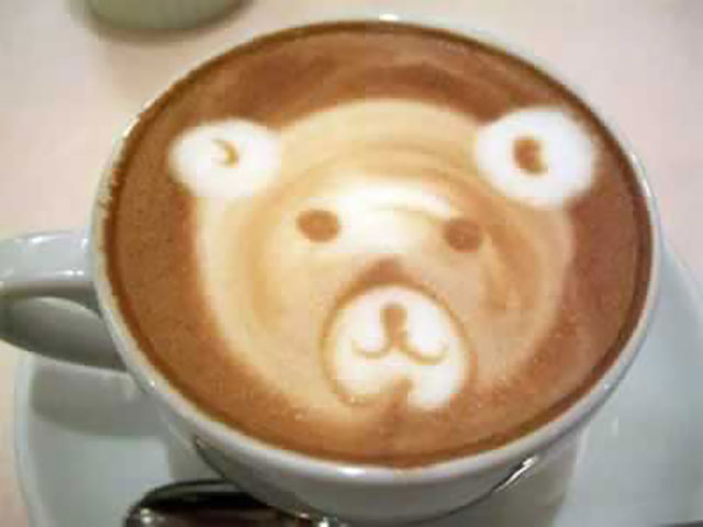 Cute Teddy Bear Coffee Art Design // Creative 3D Coffee Latte Art Pictures, Images & Designs