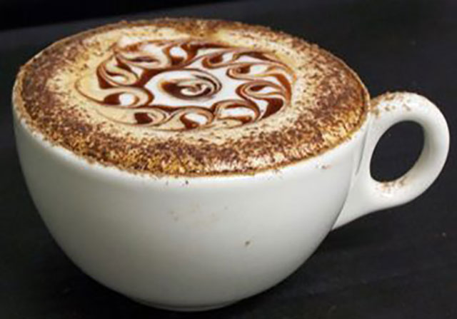 Fiery Ball Coffee Art Design // Creative 3D Coffee Latte Art Pictures, Images & Designs