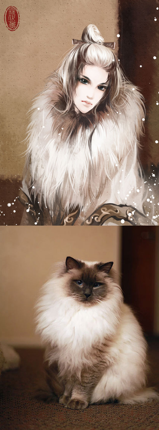 What Pets Would Look Like As People | Pets Looking Like Owners, by Chinese Artist Illustrations