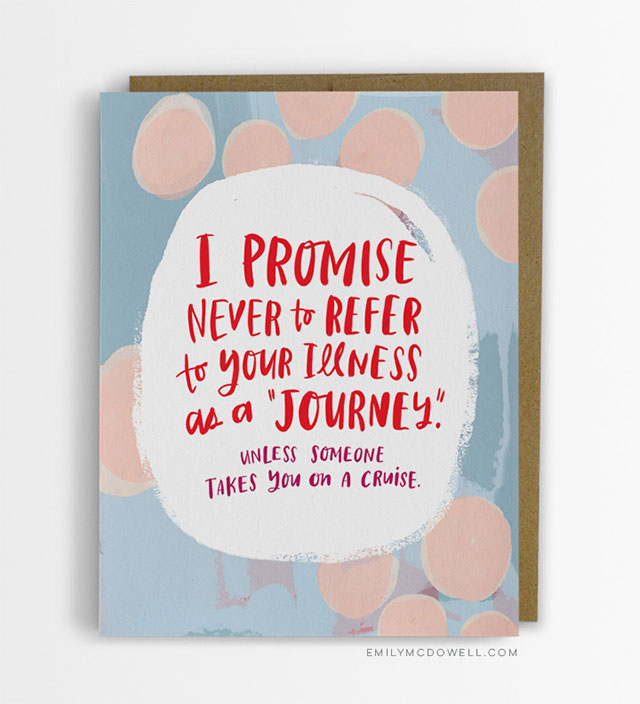 Cancer Cards I Wish I Got, Funny Encouragement | Cancer Survivor Gifts For Her