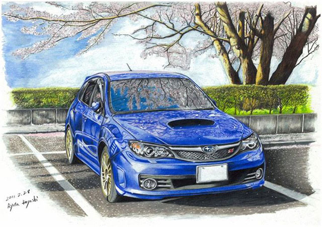 Japanese Neighborhood | Awesome Photorealistic Colored Pencil Drawings, by Ryota Hayashi