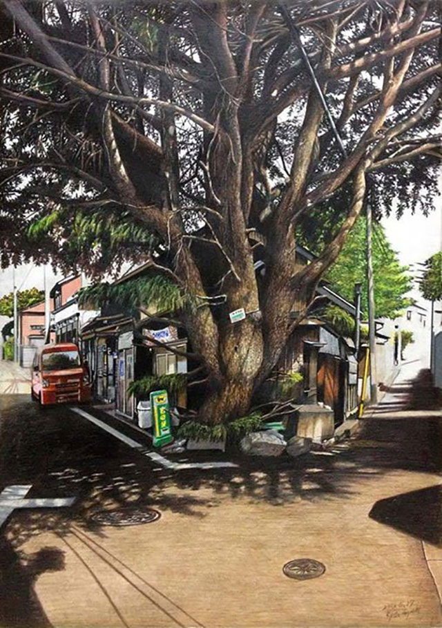 Paintings Of Japan | Awesome Photorealistic Colored Pencil Drawings, by Ryota Hayashi