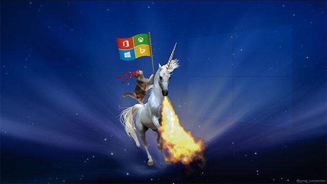 Ninja Cat & Fire Breathing Unicorn | 10 Cool Windows Ninja Cat Wallpaper