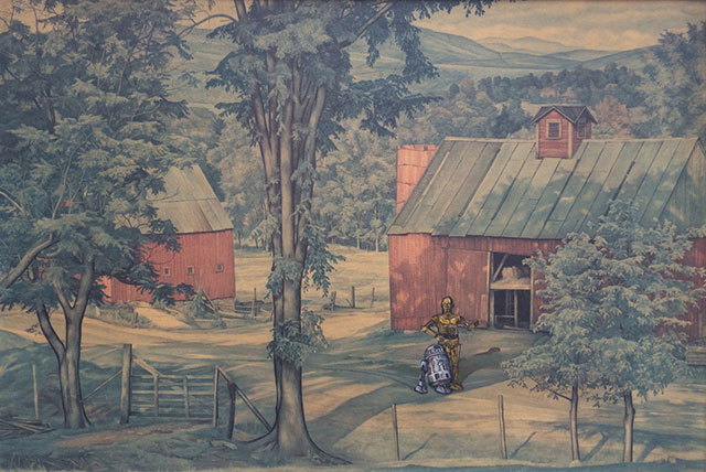 Thrift Store Paintings Altered & Improved For Sale, By Dave Pollot