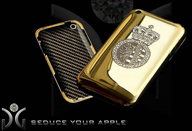 Golden Delicious Solid Gold & Diamond iPhone Case | 154 Best Cool & Creative iPhone Cases Unique