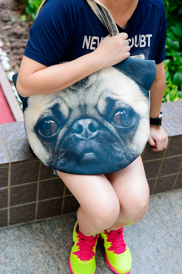 Pug Bag | Ladies Animal Shopping Bags With Face Prints