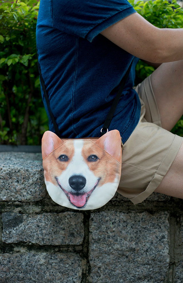 3D Cute Corgi Bag | Ladies Animal Shopping Bags With Face Prints