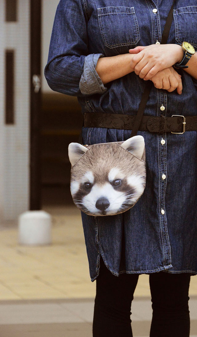 Red Panda Bag, Cute 3D Animal Bags | Ladies Animal Shopping Bags With Face Prints