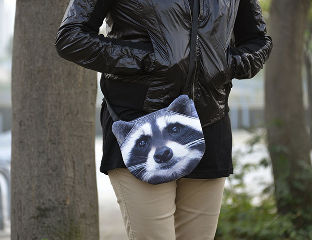 Cute 3D Animal Bags | Raccoon Bag