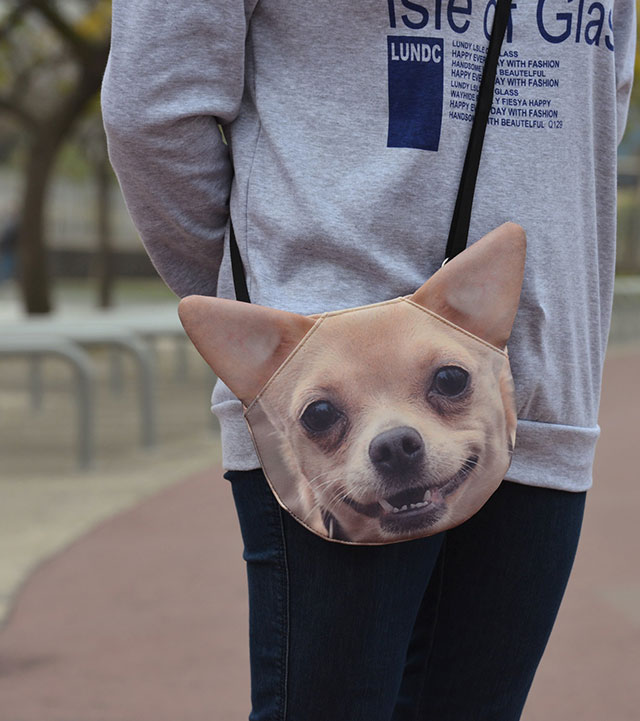 Chihuahua Bag | Ladies Animal Shopping Bags With Face Prints