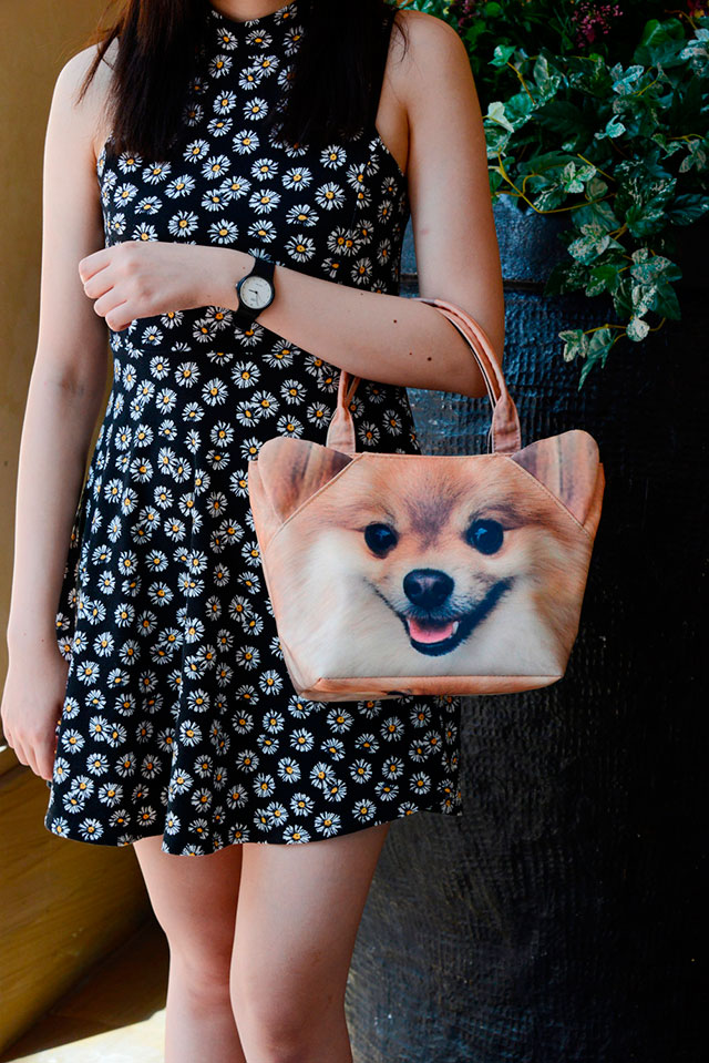 Cute 3D Pomeranian Bag | Ladies Animal Shopping Bags With Face Prints