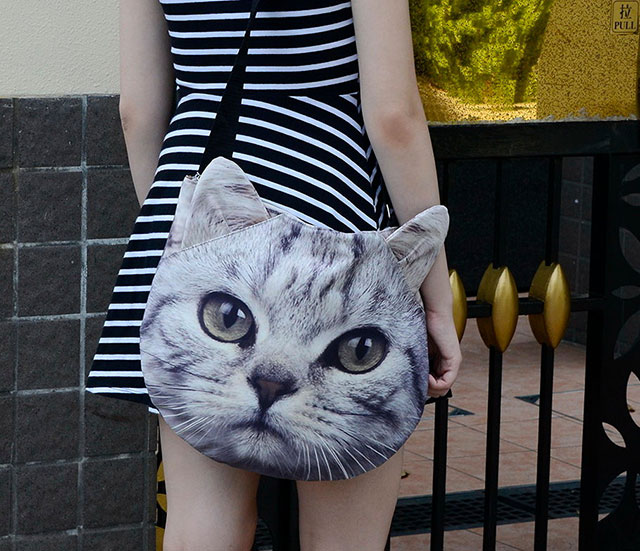 Cute 3D Kitten Bag | Ladies Animal Shopping Bags With Face Prints