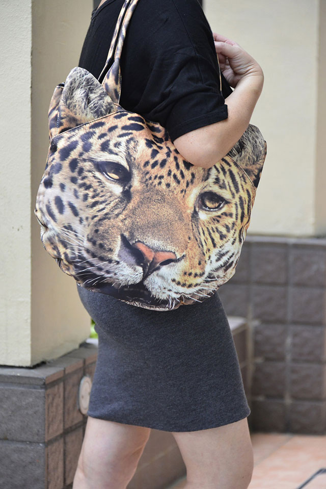3D Leopard Bag | Ladies Animal Shopping Bags With Face Prints