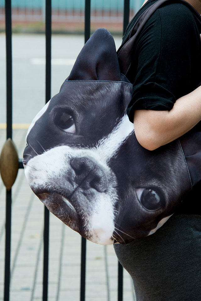 Boston Terrier Bag | Ladies Animal Shopping Bags With Face Prints