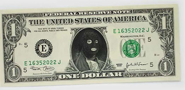 Bank Robber Money | One Dollar Bill Art by Ivan Duval and Jean Sebastien Ides