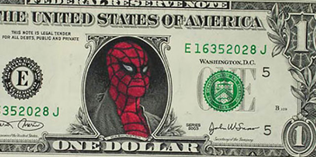 Spiderman Money | One Dollar Bill Art by Ivan Duval and Jean Sebastien Ides
