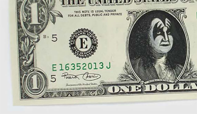 One Dollar Bill Art by Ivan Duval and Jean Sebastien Ides