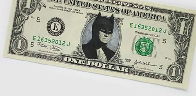 Batman Returns Money | One Dollar Bill Art by Ivan Duval and Jean Sebastien Ides