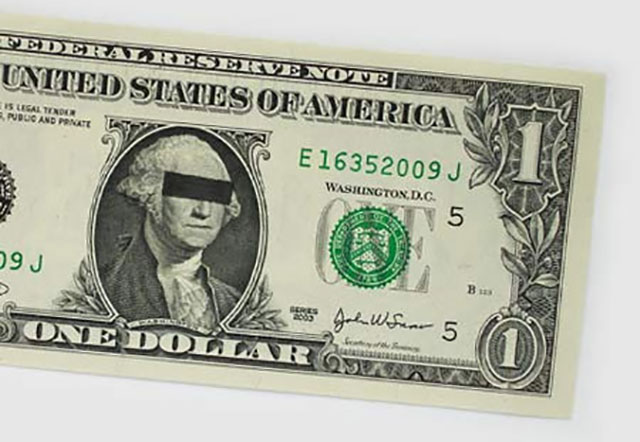 Criminal George Washington | One Dollar Bill Art by Ivan Duval and Jean Sebastien Ides