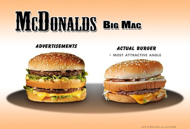 McDonald Big Mac Burger | Shocking Fast Food Comparison Pictures & Photos