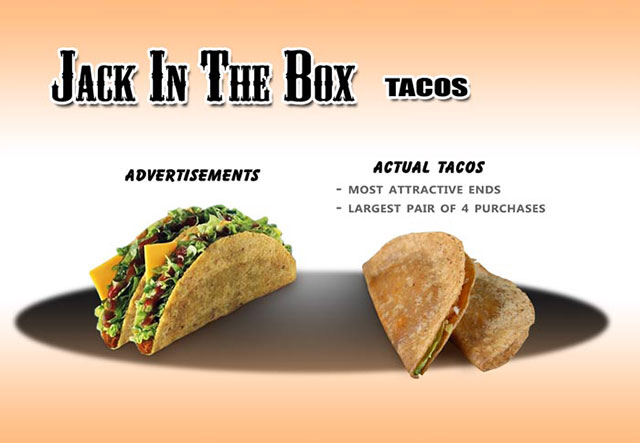 Jack In The Box Tacos | Shocking Fast Food Comparison Pictures & Photos