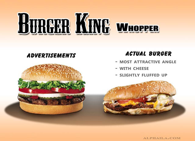 Burger King Whopper | Shocking Fast Food Comparison Pictures & Photos