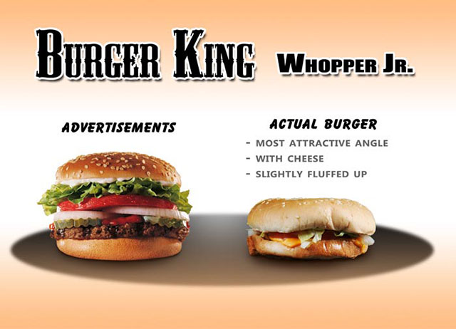Burger King Whopper Jr. | Shocking Fast Food Comparison Pictures & Photos