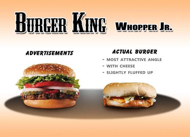 Burger King Whopper Jr. | Shocking Fast Food Comparison Pictures & Photos