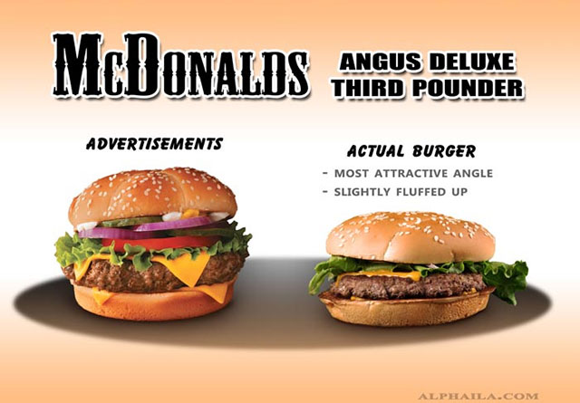 McDonalds Angus Deluxe Third Pounder | Shocking Fast Food Comparison Pictures & Photos