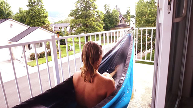Hydro Hammock Review | Portable Hot Tub Hammock Swinging Pool