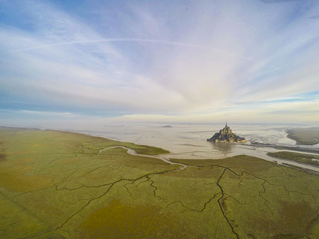 Mont Saint Michel in Normandie, France | International Drone Photography Contest Winners