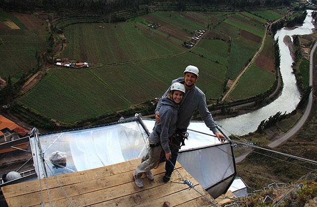 Peru Sacred Valley See Through Sleeping Caspule | Skylodge Peru Mountain Capsule Hotel