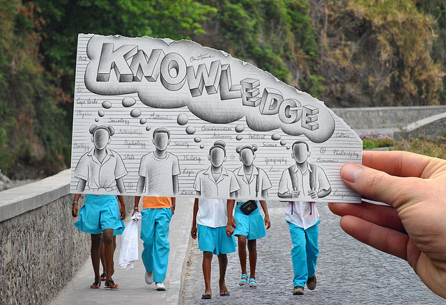 Students Knowledge Photo // Pencil Photography Drawing, Pencil vs Camera Ideas by Ben Heine