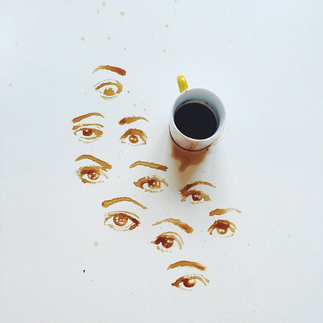 Eyes Coffee Artist | I Spilled Coffee Art Images, by Giulia Bernardelli