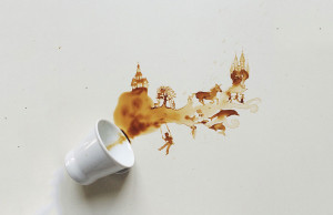 Spilt Coffee Art