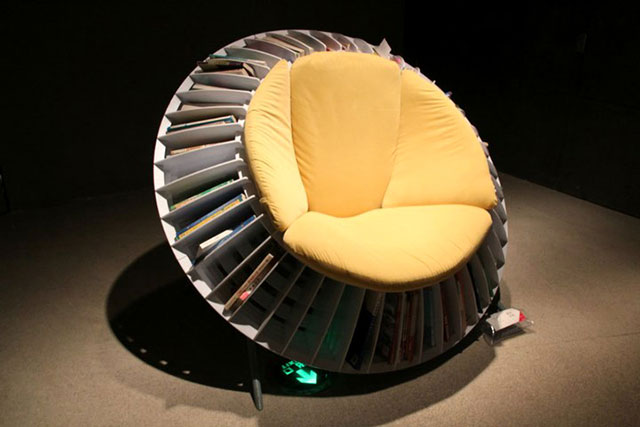 Best Ergonomic Reading Chair | The Sunflower Chair With Smart Integrated Bookcase