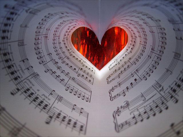 Hidden Musical Sheet Hearts | Unexpected Modern Hearts Photography