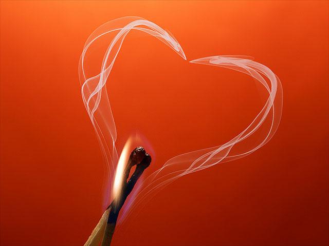 Hidden Smoke Heart | Unexpected Modern Hearts Photography