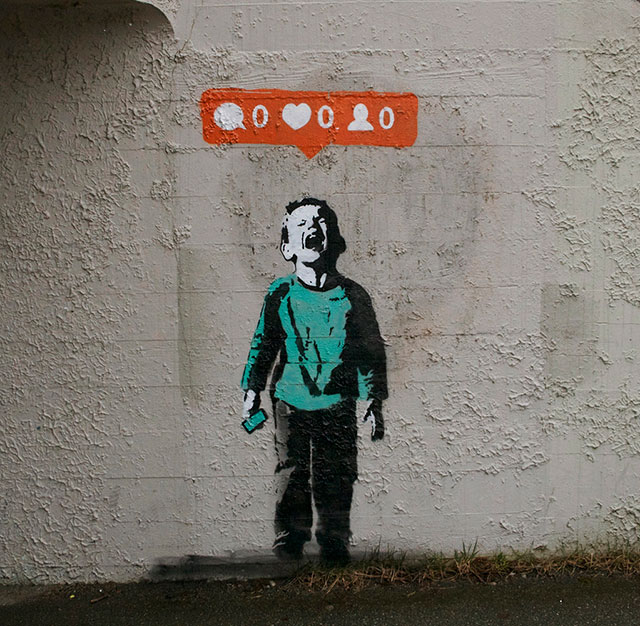Nobody Likes Me | Social Media Street Art, a Sign Of The Times