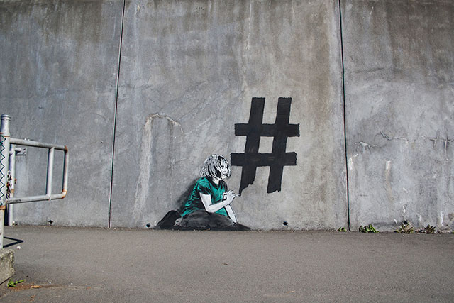 Hash Tagging | Social Media Street Art, a Sign Of The Times