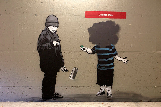 Unblock User | Social Media Street Art, a Sign Of The Times
