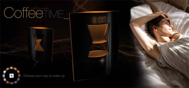 The Coffee Time Alarm Clock | 10 Best Cool Alarm Clocks For Heavy Sleepers