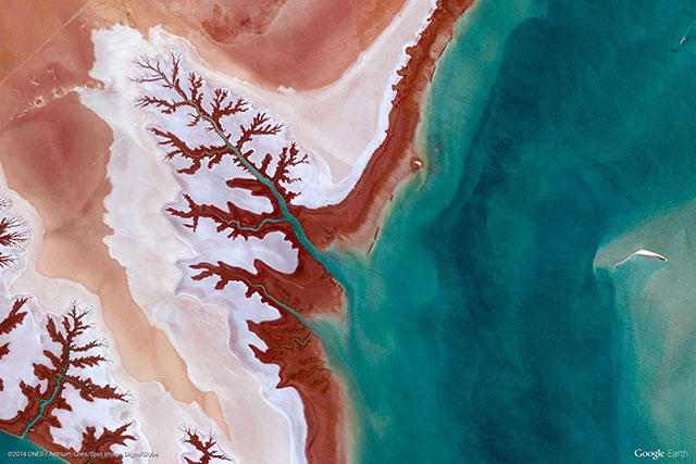 Iran | 10 Most Beautiful Google Earth Aerial View Landscapes Images (With Wallpapers)
