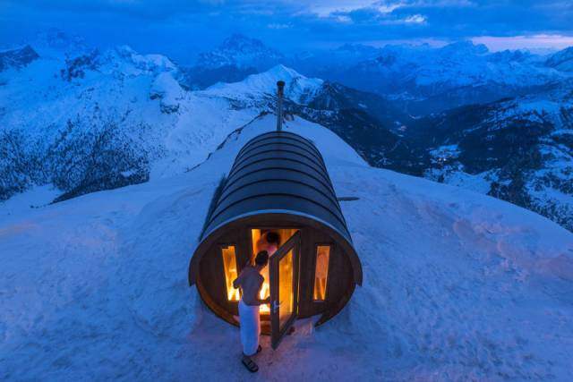 Merit Winner: Sauna In The Sky, Italian Alps | 10 Best Winners From The National Geographic Traveler Photo Contest 2015