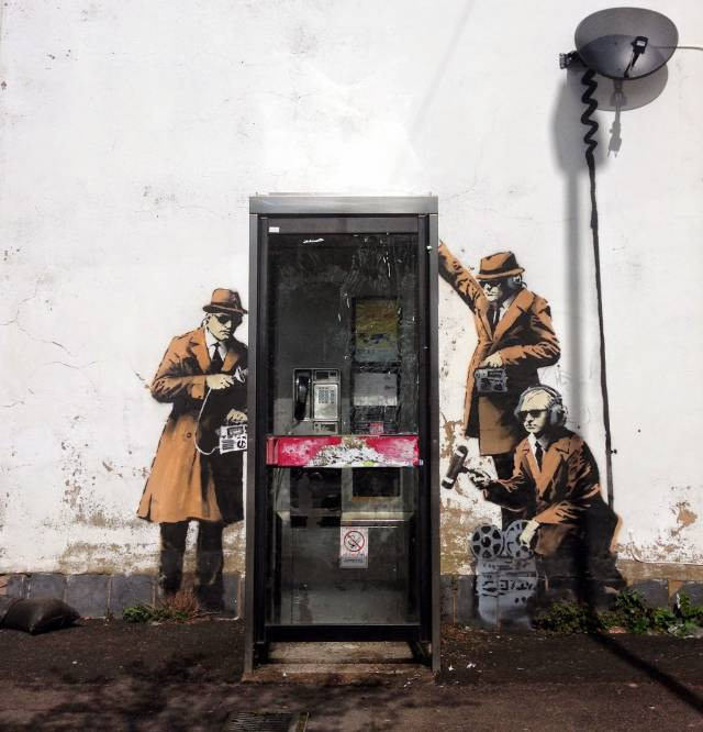 Banksy: Government Agents Spying | 10 Famous & Most Popular Street Art Pieces 2014