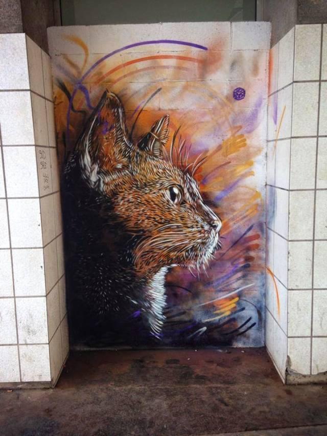 C215: Cat Mural | 10 Famous & Most Popular Street Art Pieces 2014