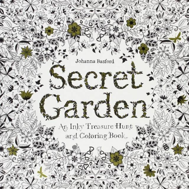 The Secret Garden Coloring Book For Adults, By Johanna Basford | 10 Best Coloring Books For Adults, Stress Relief